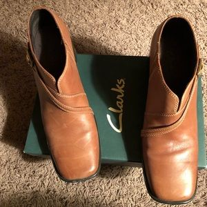 Shoes - Clarks, Caramel Boot Shoes, 8 1/2 M
